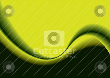 Green wave blend stock vector clipart, Pea green and black abstract wave background with copy space by Michael Travers