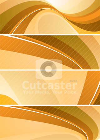 Split wave stock vector clipart, Orange and brown flowing abstract design that would make ideal background by Michael Travers