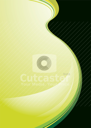 Green shadow stock vector clipart, Green hue illustrated background with swooping abstract wave by Michael Travers