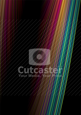 Rainbow colide stock vector clipart, Two brightly colored shafts of rainbow light colide to make a ideal background by Michael Travers