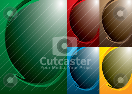 Swish variation stock vector clipart, Smooth background with five color variations by Michael Travers