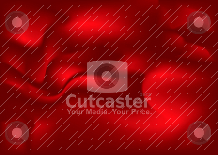 Material flow red stock vector clipart, Smooth flowing red and maroon material background by Michael Travers