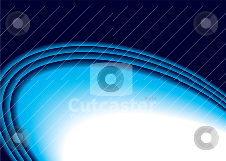 Flap curve stock vector clipart, Blue background with beveled ridges and copy space by Michael Travers