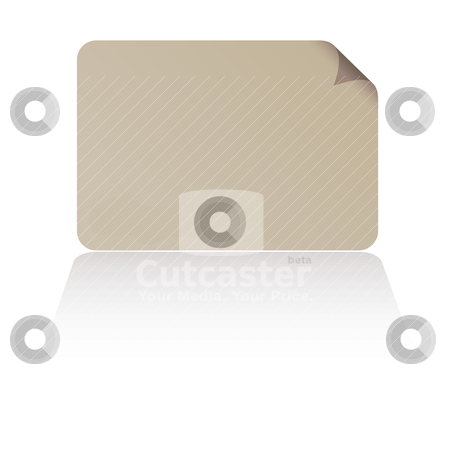Business card shadow stock vector clipart, Simple business card with drop shadow with page curl by Michael Travers