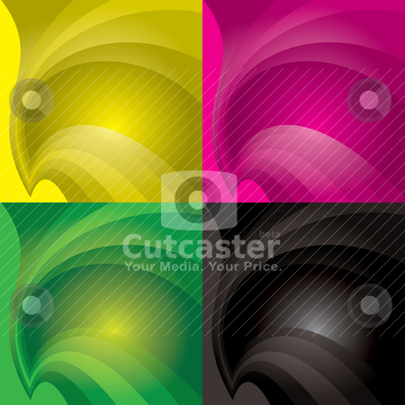 Collection swish background stock vector clipart, Colourful background with flowing curve lines and copyspace by Michael Travers