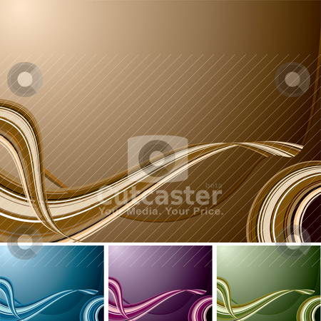 Quad swirl background stock vector clipart, Flowing wave designed background with four colour changes by Michael Travers