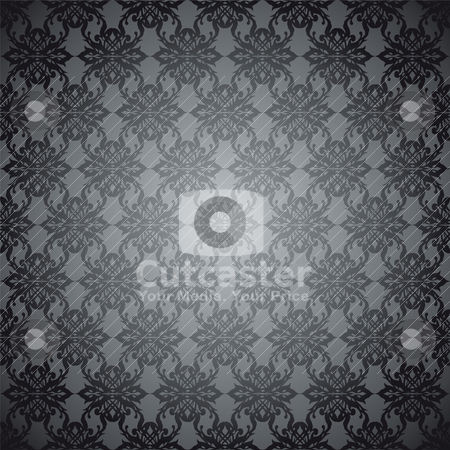 Gray mist wallpaper stock vector clipart, Gray and silver wallpaper design that seamless repeats by Michael Travers