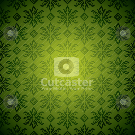 Green wallpaper tile stock vector clipart, Green and yellow seamless wallpaper design with no join by Michael Travers
