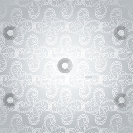Silver swirl overlap stock vector clipart, Overlapping design in silver and white making an ideal background by Michael Travers