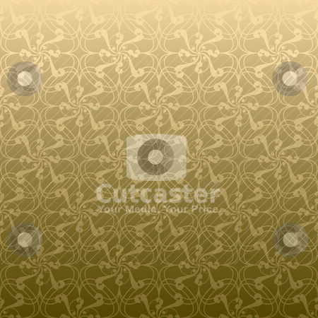 Golden swirl linear stock vector clipart, Golden swirl design that seamlessly repeats without a join by Michael Travers