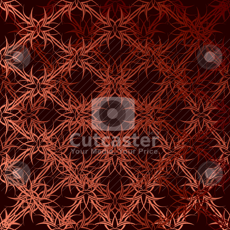 Orange wave wallpaper stock vector clipart, Orange and black seamless modern repeating design with tattoo design by Michael Travers
