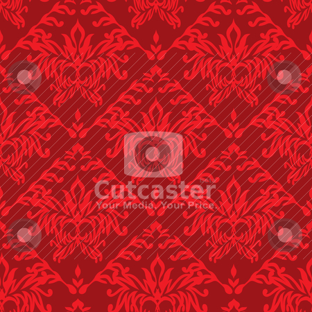 Red wallpaper seamless stock vector clipart, Red seamless repeat design background that seamless pattern by Michael Travers