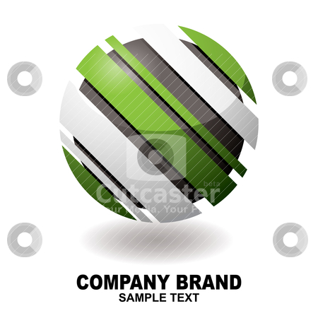 Icondroid slant stock vector clipart, Icon with slices removed from it body and a drop shadow by Michael Travers