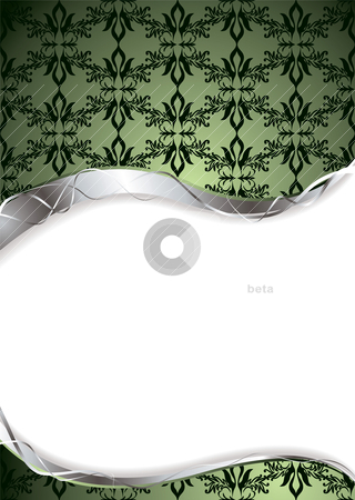 Wallpaper green space stock vector clipart, Abstract green background with room to add your own copy by Michael Travers