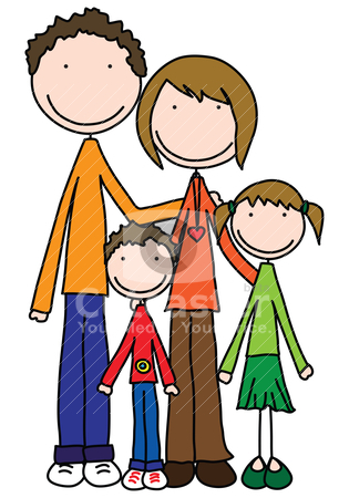 happy family stock vector