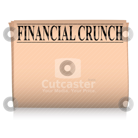 Newspaper pink financial stock vector clipart, Salmon pink financial newspaper with room to add your own text by Michael Travers