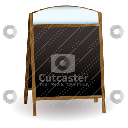 Pub chalkboard stock vector clipart, Double sided chalkboard that could be used to advertise a shop or pub by Michael Travers