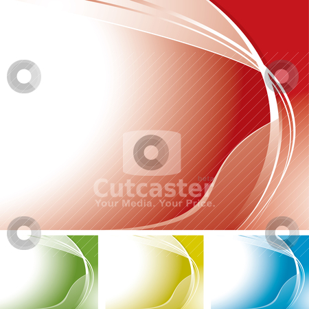 Corner swoosh melt stock vector clipart, Wave abstract background with copyspace and color variation by Michael Travers