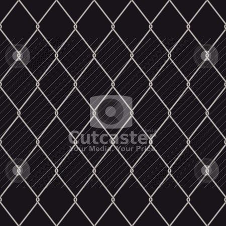 Seamless wire fence stock vector clipart, Seamless wire fence with a black background and repeat design by Michael Travers