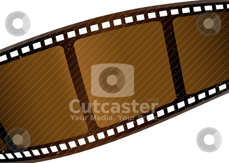 Brown film strip stock vector clipart, Strip of negative film with aged effect in brown with copyspace by Michael Travers