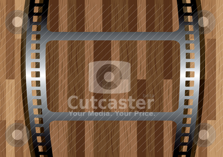 Film wood stock vector clipart, Looking through a piece of film at a wooden panel with shadow by Michael Travers