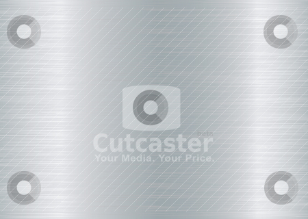 Metal brushed elongate stock vector clipart, Brushed aluminium background with grain effect and silver colour by Michael Travers