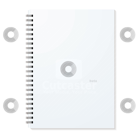 Ring binder stock vector clipart, Blank ring binder with shadow and single pages by Michael Travers