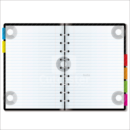 Organizer blank stock vector clipart, Illustrated diary or organiser with blank pages with room to add your own text by Michael Travers