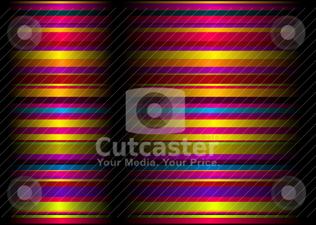 Candy ream stock vector clipart, Brightly colored background with flowing ribbon lines and crease by Michael Travers