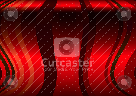 Book fol red stock vector clipart, Red flowing ribbon background with a curved wave like effect by Michael Travers