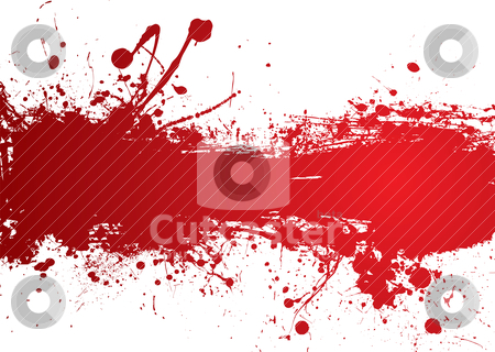 Blood strip banner stock vector clipart, Blood red banner with room to add your own text by Michael Travers