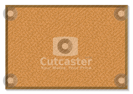 Pin board stock vector clipart, Cork pin board with a wooden frame and a shadow by Michael Travers