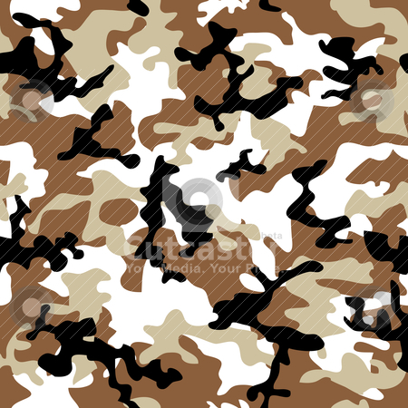Camouflage desert stock vector clipart, Desert camouflage abstract seamless background in shades of brown by Michael Travers