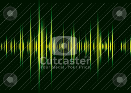 Alpha beet black stock vector clipart, Green and black illustrated graphic equaliser with peak lines by Michael Travers