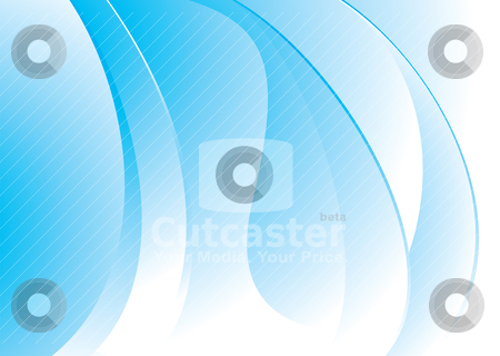 Blue mellow swell stock vector clipart, Blue and white flowing background with wave like effect by Michael Travers