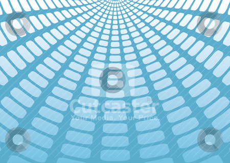 Mesh shadow stock vector clipart, Blue and white abstract background with radiating shadow effect by Michael Travers