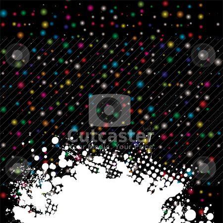 Space dust splat stock vector clipart, Brightly colored background with white ink splat with copy space by Michael Travers