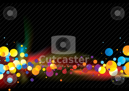 Abstract rainbow bubble stock vector clipart, Multi colored abstract background with bright bubbles and copy space by Michael Travers