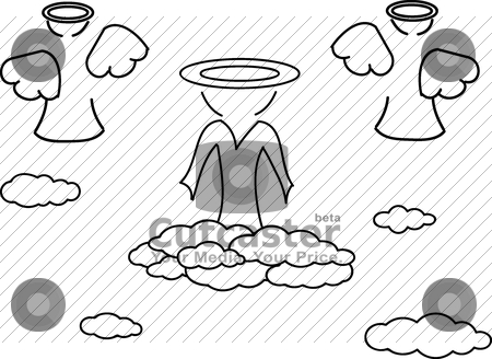 God and angel stock vector