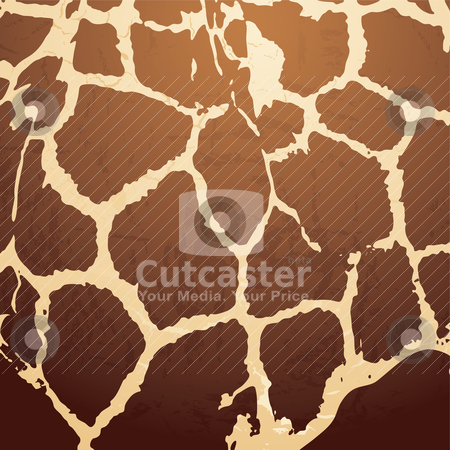 Giraffe pattern stock vector clipart, Brown Animal skin background with a textured effect by Michael Travers