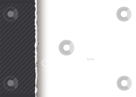 Simple tear divide stock vector clipart, Grey paper background with torn edge and shadow by Michael Travers