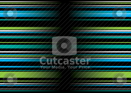 Band green blue stock vector clipart, Green and blue abstract background with ribbon effect by Michael Travers