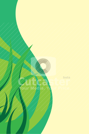 Green Foliage Layout stock vector clipart, Green foliage layout with swirls and copyspace. by Todd Arena