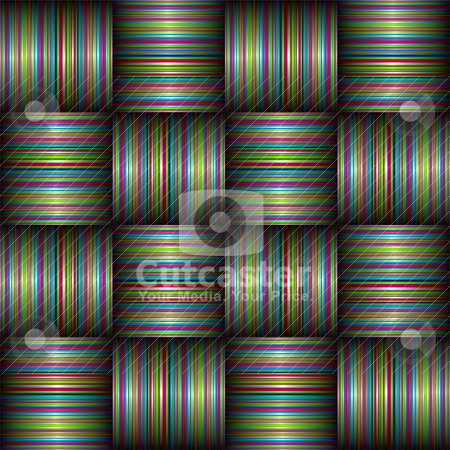 Candy stripe weave stock vector clipart, Stripe weave abstract background with ribbon and shadow effect by Michael Travers