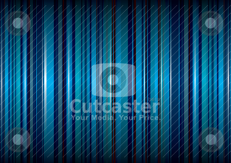 Blue small stripe stock vector clipart, Bright blue stripe abstract background with ribbon effect by Michael Travers