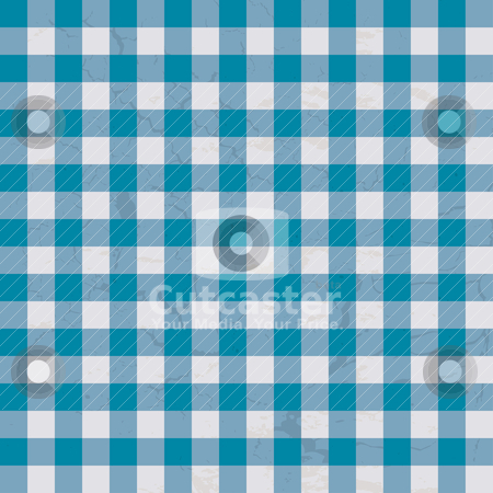 Table cloth blue stock vector clipart, Checkered blue and white table cloth with repeat design by Michael Travers