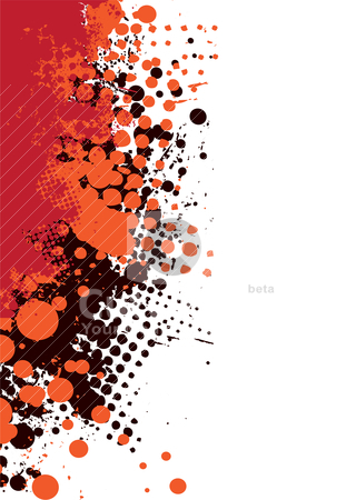 Grunge subtle red hot stock vector clipart, Abstract grunge background with halftone dot and copy space by Michael Travers