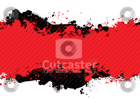 Red n black ink stock vector clipart, Red and black abstract background with room to add your own copy by Michael Travers