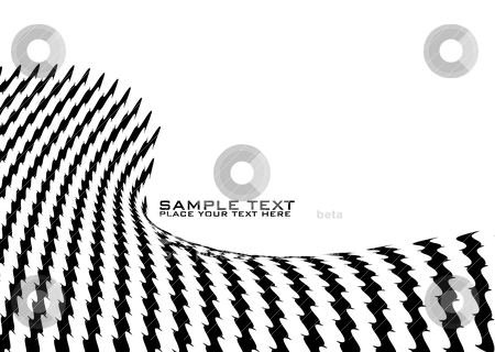 Jagged wave stock vector clipart, Abstract wave background with jagged lines and copy space by Michael Travers