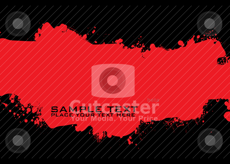 Blood grunge ink stock vector clipart, Red and black ink splat background with room for copy by Michael Travers
